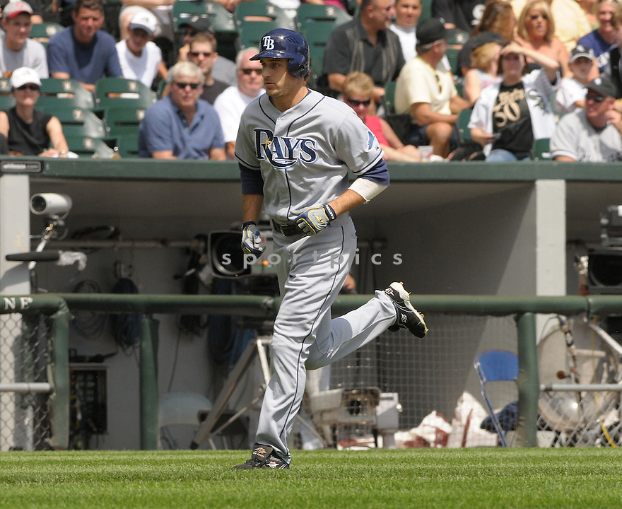 ROCCO BALDELLI, of the Tampa Bay Rays, in action during the  Rays  game against the Chicago White Sox, in Chicago, IL  on August 24, 2008..The Chicago White Sox  won 6-5