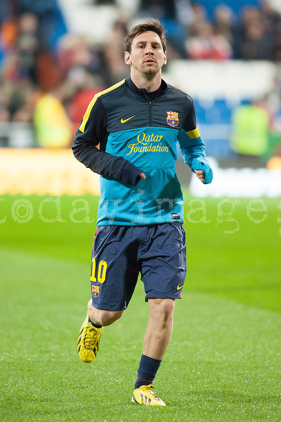 Leo Messi warm up
