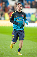 Leo Messi warm up