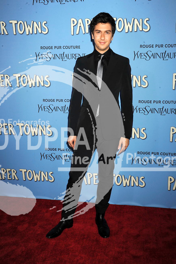 Nat Wolff attending the 'Paper Towns' premiere at AMC Loews Lincoln Square on July 21, 2015 in New York Cit