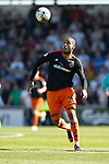 Leon Clarke of Sheffield Utd in action during the English League One match at Sixfields Stadium Stadium, Northampton. Picture date: April 8th 2017. Pic credit should read: Simon Bellis/Sportimage