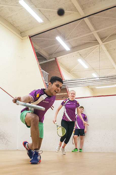 Training images of the Manchester University Squash team on behalf of SPORT Manchester at the Sugden Sports Centre, Chorlton-on-Medlock, Manchester, Saturday 21st November 2015.