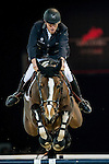Roger-Yves Bost of France rides Nippon d'Elle in action during the Longines Grand Prix as part of the Longines Hong Kong Masters on 15 February 2015, at the Asia World Expo, outskirts Hong Kong, China. Photo by Victor Fraile / Power Sport Images