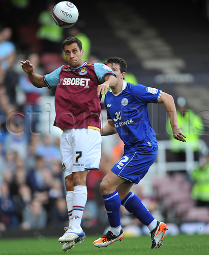 29.10.2011. London England. Sam Baldock in action during the Npower Championship Football Association match between West Ham and Leicester City Upton Park London . Mandatory Credit: Actionplus