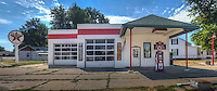 Restored old Texaco Gas Station in Lincoln Illinois on Route 66.
