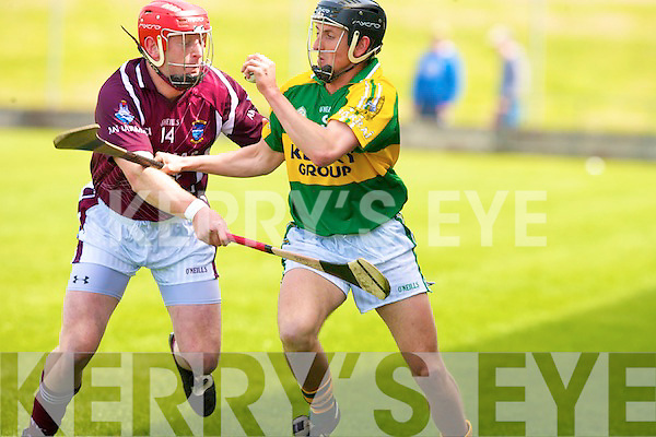 Kerry's John Griffin and Westmeath's Philip Gilsenan.