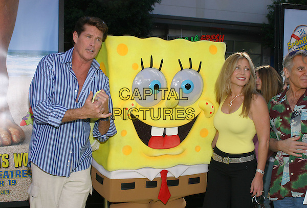 "DAVID HASSELHOFF.""The Spongebob Squarepants Movie"" World Premiere held at the Grauman's Chinese Theatre. .14 November 2004 .half length, blue striped shirt.www.capitalpictures.com.sales@capitalpictures.com.© Capital Pictures."
