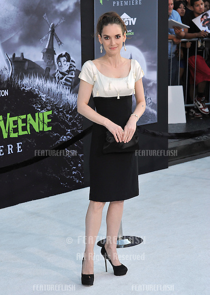 "Winona Ryder at the premiere of her movie ""Frankenweenie"" at the El Capitan Theatre, Hollywood..September 24, 2012  Los Angeles, CA.Picture: Paul Smith / Featureflash"