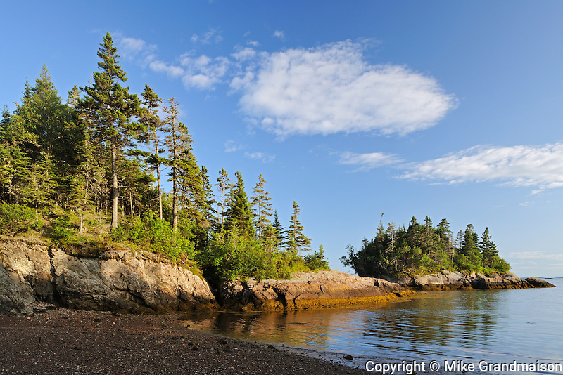 Coastline along Blacks Harbour<br /> Blacks Harbour<br /> New Brunswick<br /> Canada