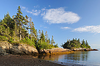 Coastline along Blacks Harbour<br /> Blacks Harbour<br /> New Brunswick<br /> Canada