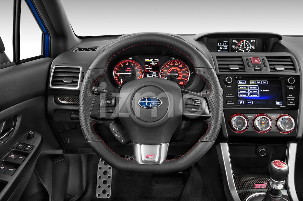 Car pictures of steering wheel view of a 2017 Subaru WRX STI - 4 Door Sedan Steering Wheel