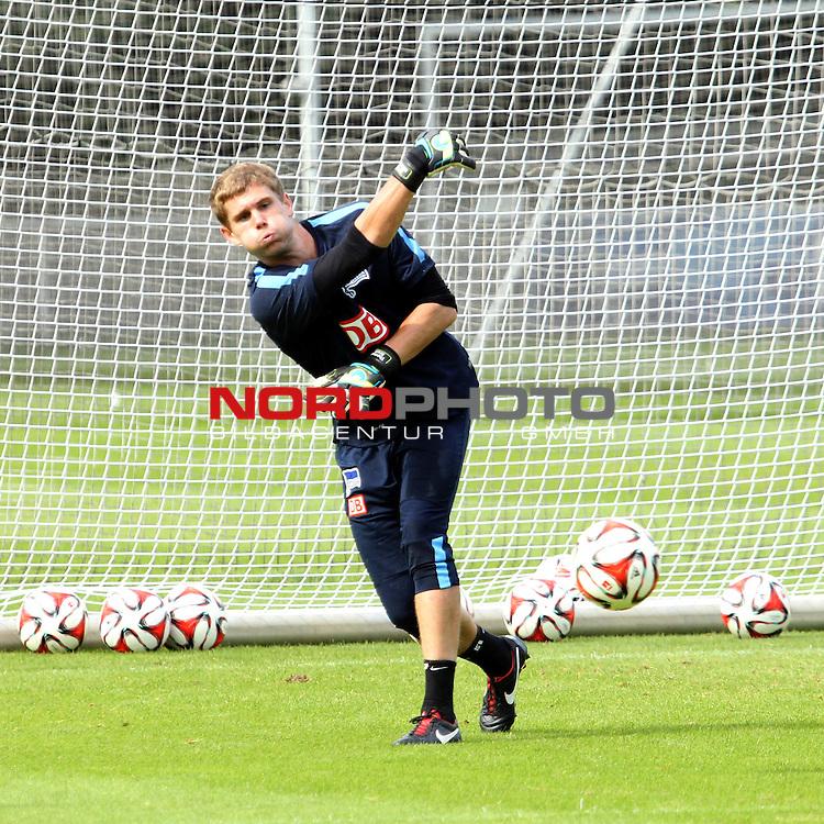26.08.2014, Sportpark, Berlin, GER, 1.FBL, Hertha BSC , Training, im Bild Thomas Kraft (Hertha BSC Berlin)<br /> <br />               <br /> Foto &copy; nordphoto /  Engler