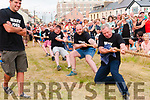 Ballybunion Bars Tug of War: The team from Mikey Joes Bar that took part in the inter pub Tug of War event in aid of Charity on Saturday night on the Castle Green in Ballybunion.