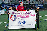 Allston, MA - Saturday, May 07, 2016: Mother's Day Weekend at a regular season National Women's Soccer League (NWSL) match at Jordan Field.
