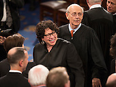 United States Supreme Court Associate Justices Sonia Sotomayor and Stephen G. Breyer arrive to listen  to U.S. President Donald J. Trump address a joint session of Congress on Capitol Hill in Washington, DC, February 28, 2017. <br /> Credit: Chris Kleponis / CNP