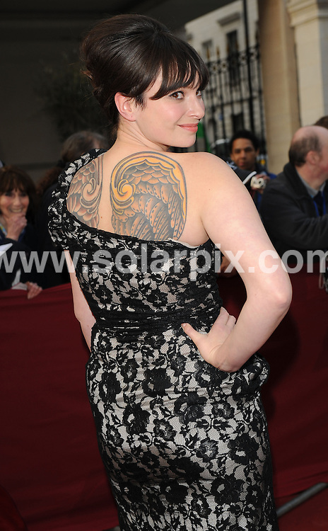 """**ALL ROUND PICTURES FROM SOLARPIX.COM**.**WORLDWIDE SYNDICATION RIGHTS**.Authors and celebrities arrive for the Galaxy British Book Awards or """"Nibbies"""" at the Grosvenor House Hotel in London..This pic:  Gizzi Erskine.JOB REF:  8765    SSD     DATE:  04.04.09.**MUST CREDIT SOLARPIX.COM OR DOUBLE FEE WILL BE CHARGED**.**ONLINE USAGE FEE GBP 50.00 PER PICTURE - NOTIFICATION OF USAGE TO PHOTO @ SOLARPIX.COM**.**CALL SOLARPIX : +34 952 811 768 or LOW RATE FROM UK 0844 617 7637**"""