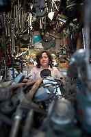 Minerva Liceo Romero. Hardware store owners in San Juan Pantitlán, Nezahualcoyotl, DF,  Mexico