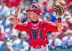 6 March 2016: St. Louis Cardinals catcher Eric Fryer in action during a Spring Training pre-season game against the Washington Nationals at Roger Dean Stadium in Jupiter, Florida. The Nationals defeated the Cardinals 5-2 in Grapefruit League play. Mandatory Credit: Ed Wolfstein Photo *** RAW (NEF) Image File Available ***
