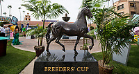 DEL MAR, CA - NOVEMBER 03: The Breeders' Cup statues in the Plaza on Day 1 of the 2017 Breeders' Cup World Championships at Del Mar Racing Club on November 3, 2017 in Del Mar, California. (Photo by Scott Serio/Eclipse Sportswire/Breeders Cup)