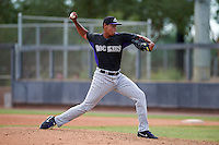 Colorado Rockies pitcher Salvador Justo (16) during an instructional league game against the SK Wyverns on October 10, 2015 at the Salt River Fields at Talking Stick in Scottsdale, Arizona.  (Mike Janes/Four Seam Images)