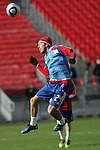19 November 2010:  Eric Alexander (24) of the FC Dallas.  FC Dallas held a practice at Toronto, Ontario, Canada as part of their preparations for MLS Cup 2010, Major League Soccer's championship game.