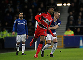 2nd December 2017, Goodison Park, Liverpool, England; EPL Premier League football, Everton versus Huddersfield Town; Kasey Palmer holds off the challenge of Morgan Schneiderlin of Everton