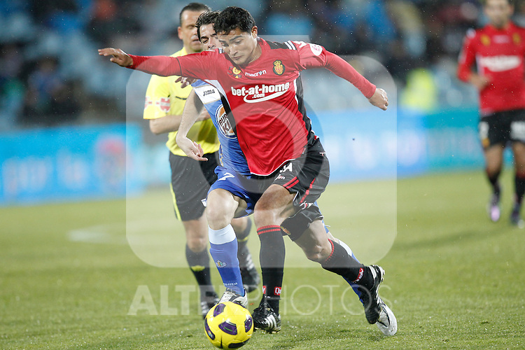 Mallorca's Gonzalo Castro during la liga match on december 5th 2010...Photo: Cesar Cebolla / ALFAQUI
