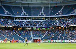 Solna 2014-05-05 Fotboll Allsvenskan AIK - Helsingborgs IF :  <br /> Publik och tomma sektioner p&aring; l&auml;ktaren i Friends Arena under matchen<br /> (Foto: Kenta J&ouml;nsson) Nyckelord:  Friends Arena AIK Gnaget HeIF HIF Helsingborg inomhus interi&ouml;r interior supporter fans publik supporters