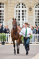 AUS-Christopher Burton (TS JAMAIMO) FIRST HORSE INSPECTION: EVENTING: The Alltech FEI World Equestrian Games 2014 In Normandy - France (Wednesday 27 August) CREDIT: Libby Law COPYRIGHT: LIBBY LAW PHOTOGRAPHY - NZL