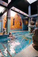 the hot baths at McMenamins Old St Francis School in Bend Oregon