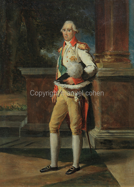 Portrait of Frederic-Auguste I, 1750-1827, King of Saxony, painted 1809 by Francois Gerard, 1770-1837 and studio, from the collection of the Chateau de Versailles et de Trianon, France. Picture by Manuel Cohen
