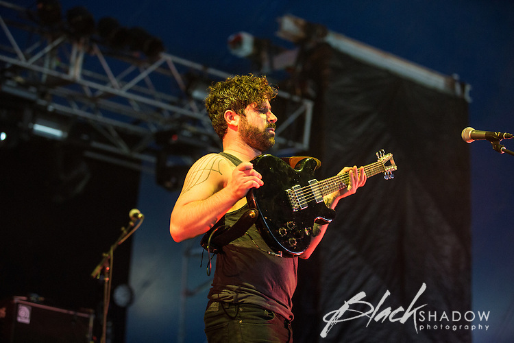 Foals performing at The Big Day Out, Melbourne, Flemington Racecourse, 26 January 2013