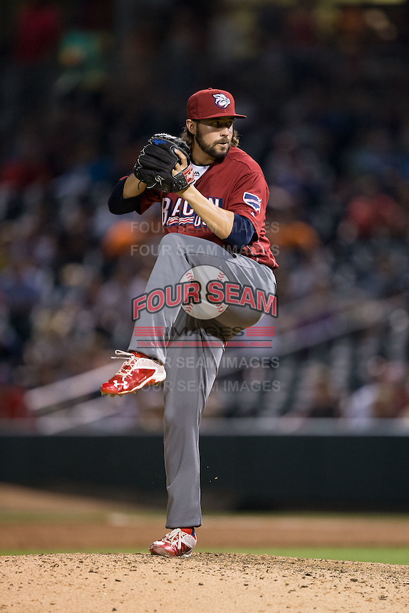 Lehigh Valley Iron Pigs relief pitcher Michael Mariot (31) in action against the Charlotte Knights at BB&T BallPark on June 3, 2016 in Charlotte, North Carolina.  The Iron Pigs defeated the Knights 6-4.  (Brian Westerholt/Four Seam Images)