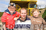Ray Marmion, Sean Joy and Darragh Joy Killorglin being impressed at the Sandvik machinery display in Quirkes Quarry Killarney on Saturday