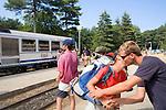 Train, Vizzavona, Corsica, France, towns in Corsica, French coastal villages, Corsican coast,