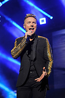 LONDON, ENGLAND - FEBRUARY 7: Ronan Keating of 'Boyzone' performing at the O2 Arena on February 7, 2019 as part of their 'Thank You &amp; Goodnight' Farewell Tour in London, England.<br /> CAP/MAR<br /> &copy;MAR/Capital Pictures