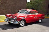 1955 Trailered Custom Senior (#74) – 1955 Chevrolet Bel Air 2-Door Hardtop registered to Jim Labold is pictured during 4th State Representative Chevy Show on Friday, July 1, 2016, in Fort Wayne, Indiana. (Photo by James Brosher)