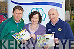 Members of the Kerry Education Services football coaching l-r:  Jack O'Connor KES Coaching Co-ordinator, Ann O'Dwyer KES acting CEO and Peter Twiss Kerry County Board Secretary