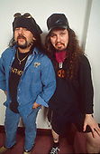 Pantera - Vinnie Paul and Dimebag Darrell Abbott of Pantera- photosession in London UK - 01 May 1996. Photo credit: George Chin/IconicPi