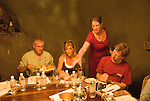 California, San Luis Obispo County: At Eberle Winery and vineyards in Paso Robles, noted for red wines. Tasting wine in underground caves of winery..Photo caluis135-70807..Photo copyright Lee Foster, www.fostertravel.com, 510-549-2202, lee@fostertravel.com