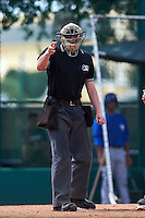 Umpire Brandon Butler during an instructional league game between the Toronto Blue Jays and Atlanta Braves on September 30, 2015 at the ESPN Wide World of Sports Complex in Orlando, Florida.  (Mike Janes/Four Seam Images)