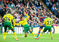 Crystal Palace Andros Townsend adoring second Palace goal during the Premier League match between Crystal Palace and Norwich City at Selhurst Park, London, England on 28 September 2019. Photo by Andrew Aleksiejczuk / PRiME Media Images.