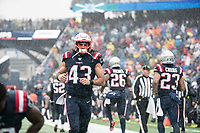 FOXBOROUGH, MA - OCTOBER 27: New England Patriots Defensive back Nate Ebner #43 during a game between Cleveland Browns and New Enlgand Patriots at Gillettes on October 27, 2019 in Foxborough, Massachusetts.