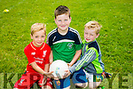 l-r  Marcus Clifford, Eoin Corbitt and Noah Brown  at the Cúl Camps, Milltown/ Castlemaine on Monday