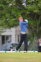 William Small (Tandragee) on the 1st tee during Round 3 of the East of Ireland Amateur Open Championship at Co. Louth Golf Club in Baltray on Sunday 4th June 2017.<br /> Photo: Golffile / Thos Caffrey.<br /> <br /> All photo usage must carry mandatory copyright credit     (&copy; Golffile | Thos Caffrey)