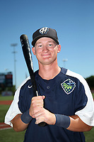 Camden Duzenack (41) of the Hillsboro Hops poses for a photo before a game against the Spokane Indians at Ron Tonkin Field on July 22, 2017 in Hillsboro, Oregon. Spokane defeated Hillsboro, 11-4. (Larry Goren/Four Seam Images)