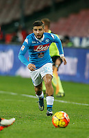 Napoli's Lorenzo Insigne  during the  italian serie a soccer match,between SSC Napoli and Torino      at  the San  Paolo   stadium in Naples  Italy , January 07, 2016