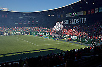 Portland, OR - Saturday April 15, 2017: Tifo prior to a regular season National Women's Soccer League (NWSL) match between the Portland Thorns FC and the Orlando Pride at Providence Park.