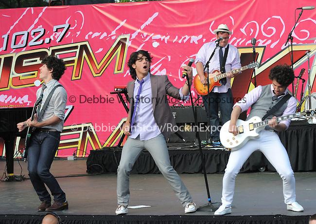 The Jonas Brothers live at The KIIS Fm Wango Tango 2008 held at The Verizon Wireless Ampitheatre in Irvine, California on May 10,2008                                                                                      Copyright 2008 RockinExposures