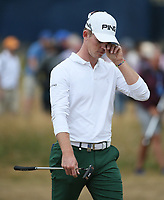 Brandon Stone (RSA) becomes overwhelmed with emotion as he heads down the fairway at the 18th during the Final Round of the ASI Scottish Open 2018, at Gullane, East Lothian, Scotland.  15/07/2018. Picture: David Lloyd | Golffile.<br /> <br /> Images must display mandatory copyright credit - (Copyright: David Lloyd | Golffile).